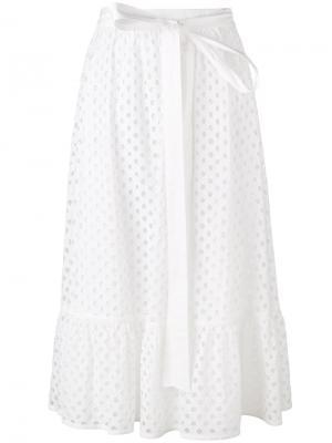Perforated A-line skirt Tory Burch. Цвет: белый