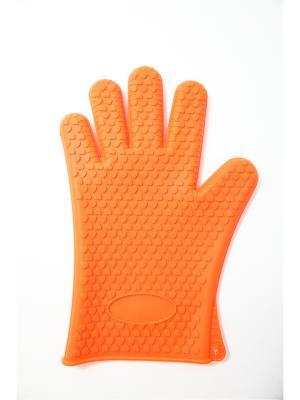 Перчатка 26х19см, силикон. Vetta. Цвет: оранжевый