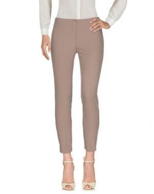 Повседневные брюки MARCELLO SANGIORGI. Цвет: голубиный серый