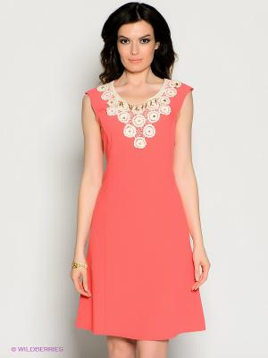 Платье Valeria Lux. Цвет: коралловый
