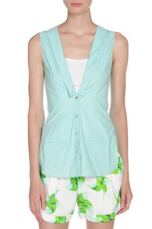 Блуза Frankie Morello. Цвет: бирюзовый