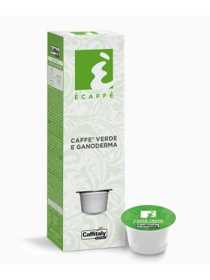 Кофе в капсулах Green Coffee Ganoderma ECAFFE CAFFITALY. Цвет: зеленый