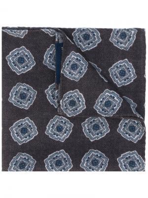 Нагрудный платок с принтом квадратов Lardini. Цвет: коричневый