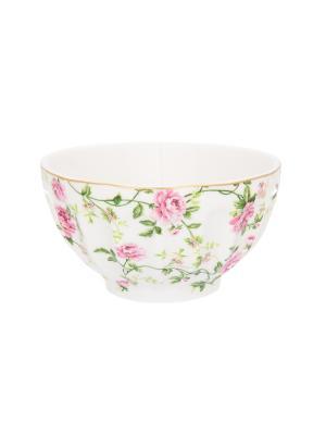 Салатник Плетистая роза Elan Gallery. Цвет: белый,зеленый,розовый