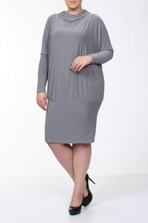 Платье-туника Qneel. Цвет: серый