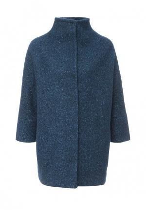 Пальто Uona. Цвет: бирюзовый