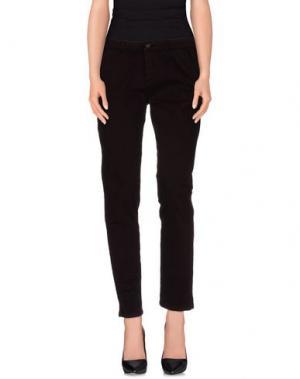 Повседневные брюки REIKO. Цвет: баклажанный