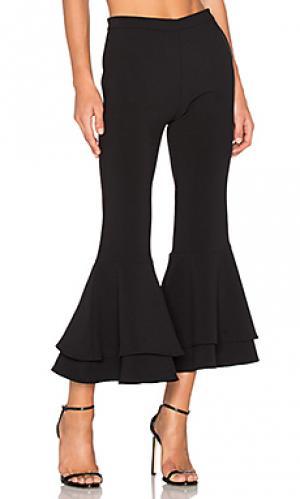 Укороченные брюки с двойными рюшами supafly Backstage. Цвет: черный