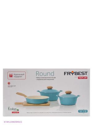 Набор посуды Frybest. Цвет: голубой