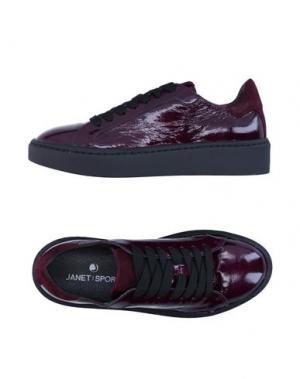 Низкие кеды и кроссовки JANET SPORT. Цвет: баклажанный