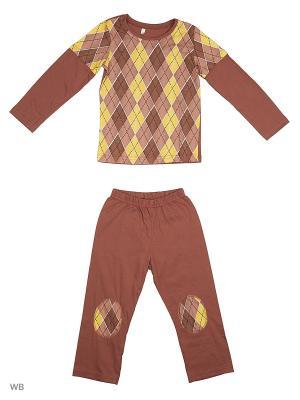 Пижамы Flip. Цвет: коричневый