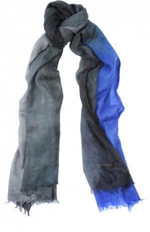 Кашемировый шарф с необработанным краем Franco Ferrari. Цвет: голубой