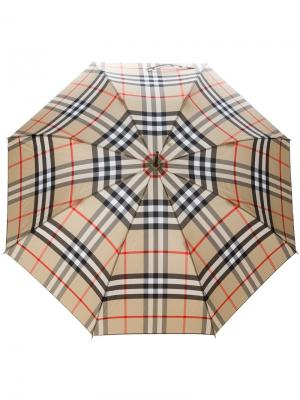 Зонт в клетку Burberry. Цвет: телесный