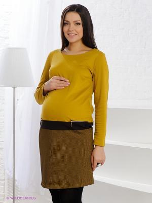 Платье ФЭСТ. Цвет: горчичный, коричневый