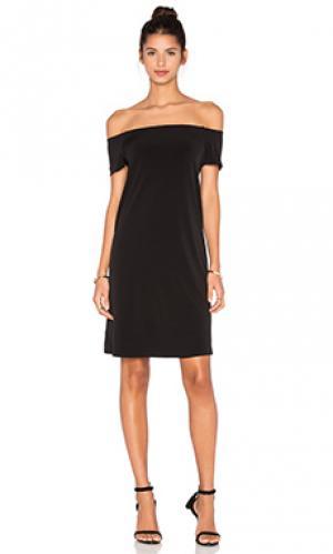 Стрейчевое платье из джерси с открытыми плечами sorana Velvet by Graham & Spencer. Цвет: черный