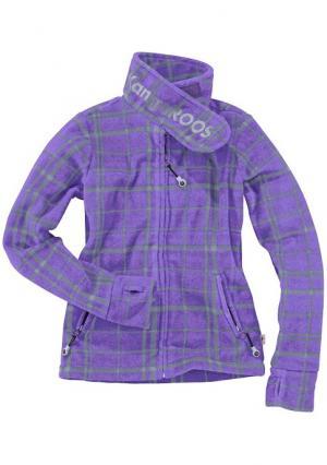 Куртка из флиса Kangaroos. Цвет: сиреневый в клетку