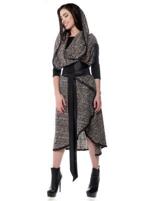 Пальто-накидка SEANNA. Цвет: коричневый