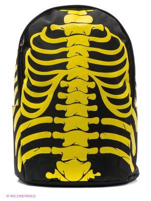 Рюкзак Скелет (желтый) Kawaii Factory. Цвет: черный