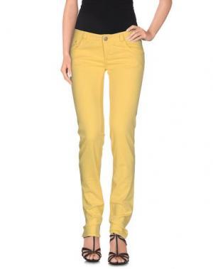 Джинсовые брюки DENNY ROSE. Цвет: желтый