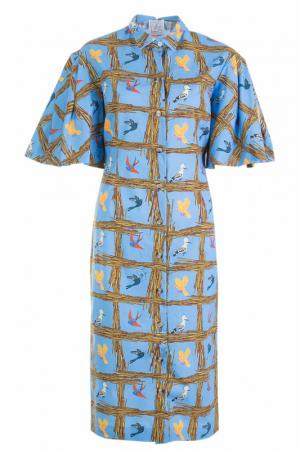 Платье STELLA JEAN. Цвет: голубой