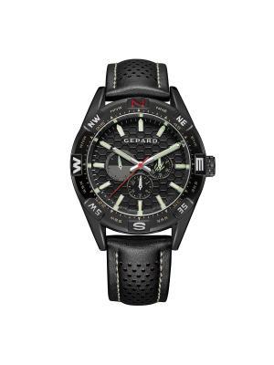 Часы GEPARD.. Цвет: черный,серо-зеленый,красный