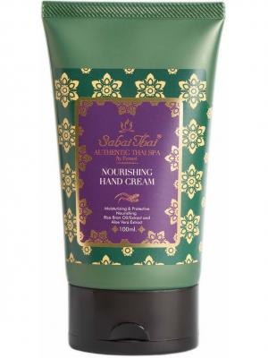 Sabai Thai Authentic SPA SBT-018 Крем для рук с маслом рисовых отрубей и алоэ вера 100 мл. Цвет: белый