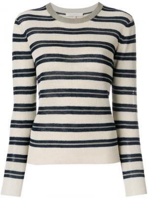 Укороченный полосатый свитер Vanessa Bruno. Цвет: телесный