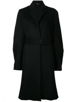 Пальто со складками на рукавах Bassike. Цвет: чёрный