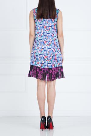 Шелковое платье Duro Olowu. Цвет: голубой
