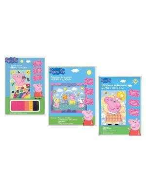 Набор для творчества Свинка Пеппа Peppa Pig. Цвет: синий, зеленый, красный