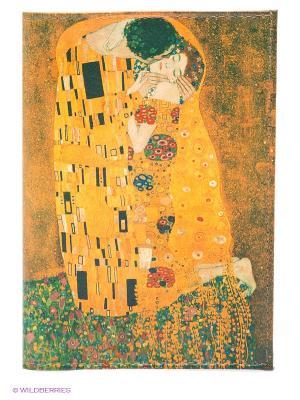 Обложка для паспорта Поцелуй Климта Mitya Veselkov. Цвет: желтый, зеленый, коричневый