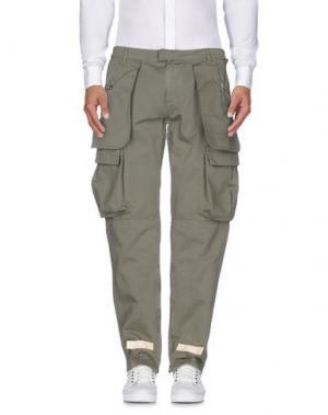 Повседневные брюки OFF WHITE C/O VIRGIL ABLOH. Цвет: зеленый-милитари