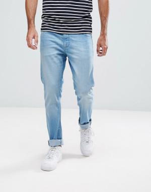 LDN DNM Светлые джинсы скинни. Цвет: синий
