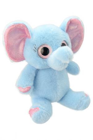 Слоник, 32 см WILD PLANET. Цвет: голубой