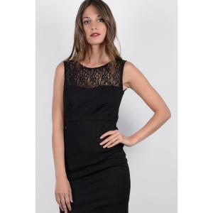 Платье короткое без рукавов MOLLY BRACKEN. Цвет: черный