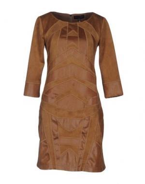 Короткое платье HALE BOB. Цвет: верблюжий