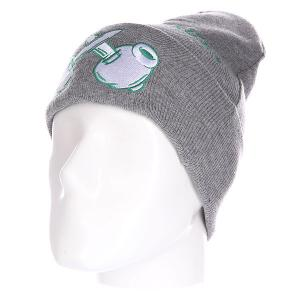 Шапка Truespin Criminal Mind Classic Grey Green. Цвет: серый
