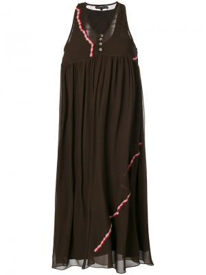 Платье с вышитой деталью Jupe By Jackie. Цвет: коричневый