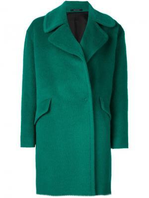Однобортное пальто Agatha Tagliatore. Цвет: зелёный