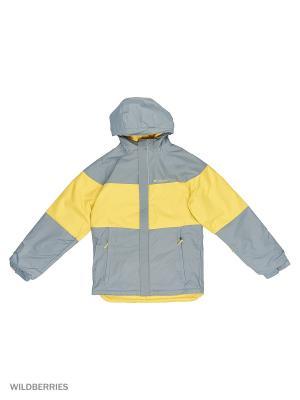 Куртки Columbia. Цвет: серый, желтый