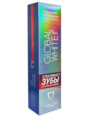 Зубная паста ежедневная отбеливающая Global White. Цвет: белый, синий