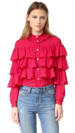 Блуза Genevieve Jill Stuart. Цвет: губная помада