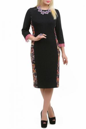 Платье Эфра LESYA. Цвет: мультицвет