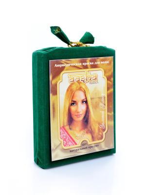 Краска для волос натуральная аюрвведическая Золотой Блонд Aasha Herbals. Цвет: светло-коричневый