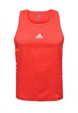 Майка спортивная adidas Combat. Цвет: красный