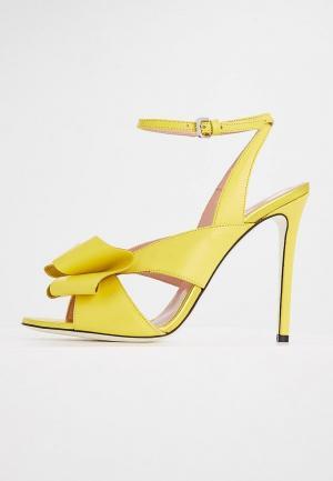 Босоножки Pollini. Цвет: желтый