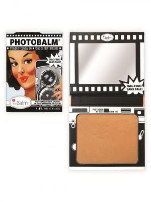 Компактная тональная основа с пудровой текстурой PhotoBalm Mid Medium theBalm. Цвет: коричневый