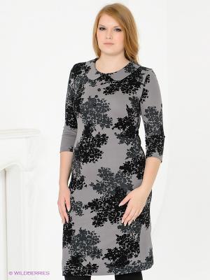Платье Magnolica. Цвет: серый, черный