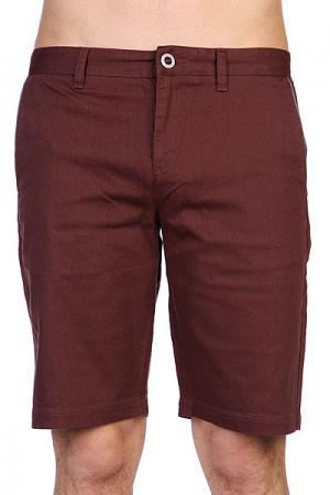 Шорты джинсовые  Spender Chino Short Chocolate Volcom. Цвет: бордовый