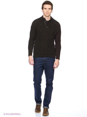 Пуловер Finn Flare. Цвет: коричневый